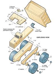 pdf plans how to build a monster toy wood truck download diy how