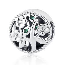 fashion 100 925 sterling silver tree of bead charms fit