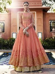anarkali wedding dress color designer wedding bridal heavy anarkali ghagra