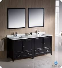 fresca oxford 72 sink bathroom vanity espresso finish