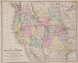 Map Of Southern States Map Of The Western States 1878