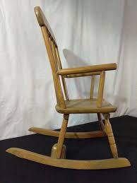 Unfinished Child S Rocking Chair Vintage Childs Rocking Chair With Music Box Home Chair Decoration