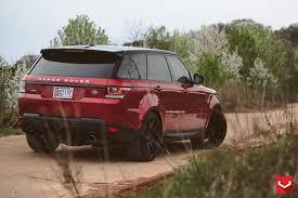 matte red range rover vossen wheels land rover range rover vossen cv4