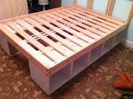 Low Platform Bed Diy by Diy Storage Bed Great For A Kids Bed Low To The Ground And