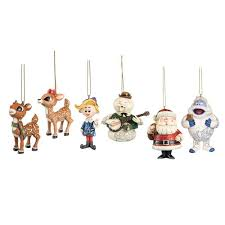 rudolph the nosed reindeer hanging ornament set