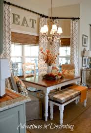 i love the way this nook is set up with the long table instead of