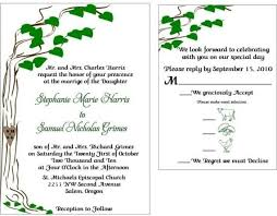 Sample Wedding Programs Outline Hand Crafted Custom Tree Wedding Invitation Set Sample Set By