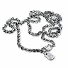 mens necklace stores images Simmons jewelry co men 39 s stainless steel rolo link chain necklace jpg