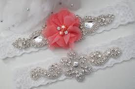 garters for wedding coral wedding garters bridal garter set coral wedding custom