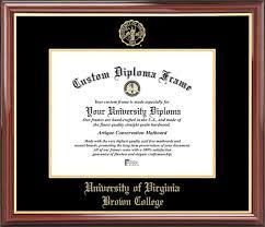 virginia tech diploma frame of virginia brown college diploma frames certificate