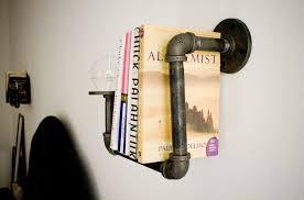 creative pipe bookshelf diy furniture ideas wall mounted unusual