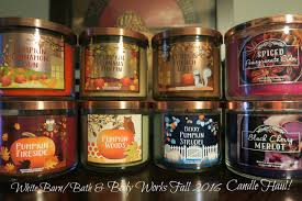 Fall Scents White Barn Bath U0026 Body Works Fall 2016 Candle Haul Youtube
