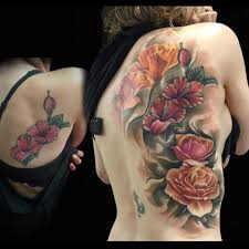back tattoos ideas beautiful back flowers tattoo best tattoo ideas gallery
