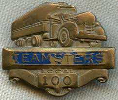 flying tiger antiques store 1950 s teamsters member badge