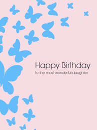 to the most wonderful daughter butterfly birthday card