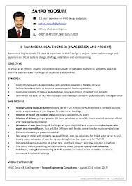 Sample Resume Of Experienced Mechanical Engineer Download Hvac Design Engineer Sample Resume Haadyaooverbayresort Com