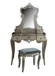 silver vanity table set tiffany silver dressing table stool