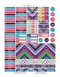 free printable planner online free happy planner printable planner stickers tribal aztec