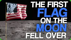 American Flag On The Moon The First Flag On The Moon Fell Over 10 Seconds After The Lunar