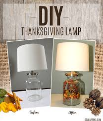Easy Do It Yourself Home Decor Diy Fall Lamp