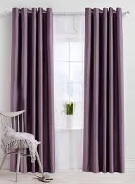 White Faux Silk Curtains White Interior With Purple Eyelet Faux Silk Curtains
