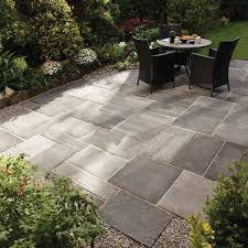 Large Pavers For Patio An Easy Do It Yourself Patio Design Compared To Pavers Save Big