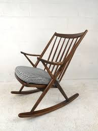 Mid Century Modern Patio Furniture Mid Century Walnut Modern Rocking Chair U2013 Plushemisphere