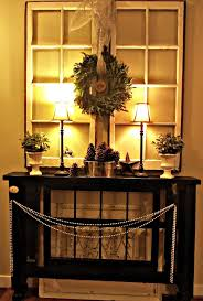 Functional Entryway Ideas Creative Brown Holder To Hold Planters And Lamp Shades Under