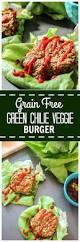 grain free green chilie veggie burgers paleo gluten free