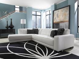Living Room With White Leather Sectional Mid Century White Leather Tufted Sectional Chaise Lounge Sofa Bed