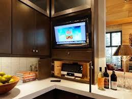 tv in kitchen ideas enjoying favorites programs while cooking kitchen tvs home