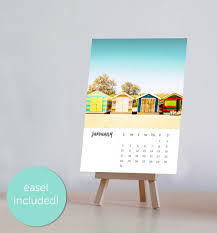 2018 easel desk calendar 2018 calendar desk calendar beach decor calendar with easel