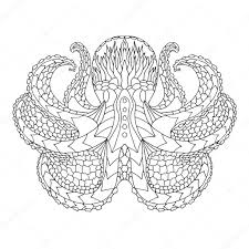 zentangle design octopus ethnic patterned vector illustration african indian