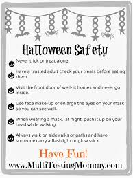 Printable Halloween Stories Kids by Halloween Safety Tips For Kids Printable Multi Testing Mommy