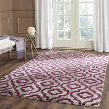 Purple And Grey Area Rugs Safavieh Porcello Light Grey Purple 9 Ft X 12 Ft Area Rug