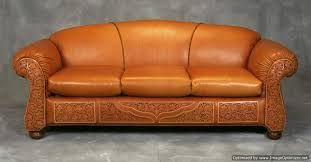 Rustic Leather Sofas Tooled Leather Sofa Radkahair Org Home Design Ideas