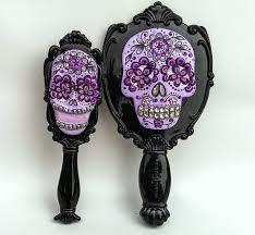 sugar skull hair brush mirror set sugar skull culture