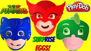 huge pj masks play doh surprise eggs disney toys blind bags