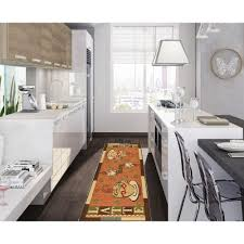 amazon com ottomanson sara u0027s kitchen coffee cups design mat