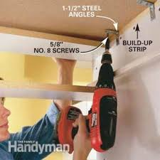 How To Take Cabinets Off The Wall How To Install A Countertop Family Handyman