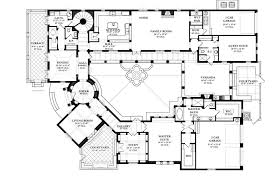 spanish style house plans with interior courtyard home design