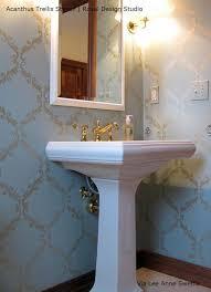 bathroom wall stencil ideas large trellis wall stencil acanthus damask wall stencil for diy