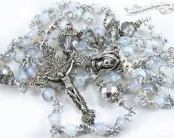 white rosary white rosary etsy
