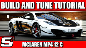 custom mclaren mp4 12c forza 5 build and tune tutorial mclaren mp4 12c a class youtube