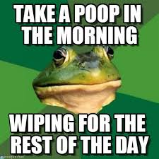 Bachelor Frog Memes - take a poop in the morning foul bachelor frog meme on memegen
