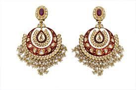 danglers earings 22k gold meena ruby perals kundan earrings danglers buy