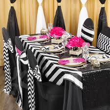satin chair sashes stripe satin chair sash black white cv linens