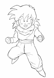 printable goku coloring pages coloring