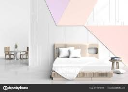 big bed pillows pastel color bed room is are decorated with big bed wood chair