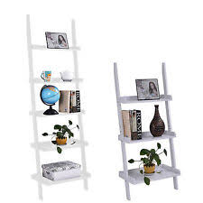 Book Or Magazine Ladder Shelf by Ladder Bookcase 4 Tier Modern Leaning Book Magazine Wooden Shelf